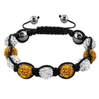 KSEB SHEB Items - shambhala bracelets white yellow crystal stone balls adjustable lace bracelet Image.