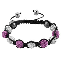 KSEB SHEB Items - shambhala bracelets white amethyst crystal stone balls adjustable lace bracelet Image.