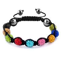 KSEB SHEB Items - shambhala bracelets colourful crystal stone balls adjustable lace bracelet Image.