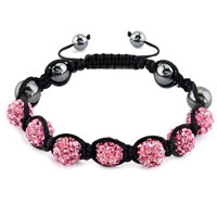 KSEB SHEB Items - shamballa bracelet light pink crystal stone balls beaded inspired adjustable bracelets Image.