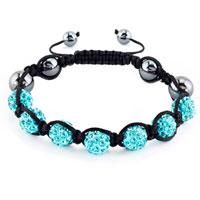 KSEB SHEB Items - shamballa bracelet aquamarine blue crystal stone balls beaded inspired adjustable bracelets Image.