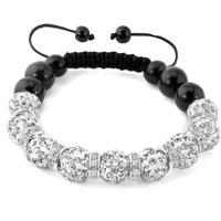 KSEB SHEB Items - shamballa bracelet clear white swarovski elements cz crystal stone disco balls beaded bracelets Image.