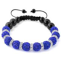 KSEB SHEB Items - shamballa bracelet saphire blue swarovski elements cz crystal stone disco balls beaded bracelets Image.