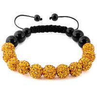 KSEB SHEB Items - topaz yellow shamballa bracelet swarovski crystal cz stone disco balls beaded bracelets Image.