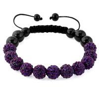 KSEB SHEB Items - amethyst purple shamballa bracelet swarovski crystal cz stone disco balls beaded bracelets Image.