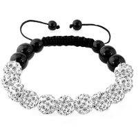 KSEB SHEB Items - clear white shamballa bracelet swarovski crystal cz stone disco balls beaded bracelets Image.
