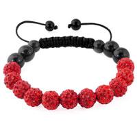 KSEB SHEB Items - ruby red shamballa bracelet swarovski crystal cz stone disco balls beaded bracelets Image.