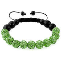 KSEB SHEB Items - peridot green shamballa bracelet swarovski crystal cz stone disco balls beaded bracelets Image.