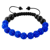 KSEB SHEB Items - sapphire blue shamballa bracelet swarovski crystal cz stone disco balls beaded bracelets Image.