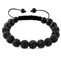 KSEB SHEB Items - black shamballa bracelet swarovski crystal cz stone disco balls beaded bracelets Image.
