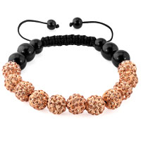 KSEB SHEB Items - brown shamballa bracelet swarovski crystal cz stone disco balls beaded bracelets Image.