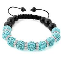 KSEB SHEB Items - shamballa bracelet ocean blue swarovski elements cz crystal stone disco balls beaded bracelets Image.