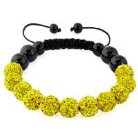 KSEB SHEB Items - yellow color shamballa bracelet swarovski crystal cz stone disco balls beaded bracelets Image.