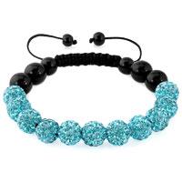KSEB SHEB Items - blue shamballa bracelet swarovski crystal cz stone disco balls beaded bracelets Image.