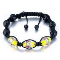 New Year Deals - shamballa bracelet yellow black patternbeads women Image.