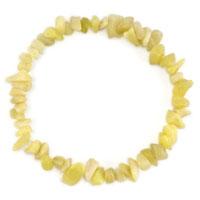 Bracelets - citrine chip stone bracelets yellow chip stone beaded stretch charm bracelet Image.