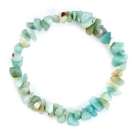 Bracelets - amazonite chip bracelets gemstone crystal light blue chip stone bracelet Image.