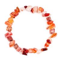 Bracelets - carnelian chip stone bracelets crystal amber chip stone beaded stretch charm bracelet Image.