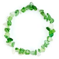 Bracelets - green aventurine chip stone bracelets green chip stone beaded stretch charm bracelet Image.