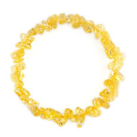 Bracelets - citrine chip stone bracelets lemon yellow chip stone beaded stretch charm bracelet Image.