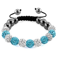 KSEB SHEB Items - shamballa bracelet ocean blue charm crystal disco balls adjustable Image.