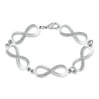 Bracelets - classic crystal iced out infinity chain link lobster clasp bracelet Image.
