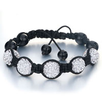 New Year Deals - shambhala bracelet white ball rhinestone Image.