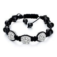 New Year Deals - shambhala bracelet triple white disco ballgift women swarovski crystal Image.