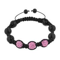 Gifts Center - shambhala bracelet triple pink disco ball rhinestonegift womencrystal Image.