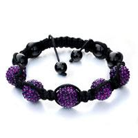 Man's Jewelry - shambhala bracelet amethyst disco ballgift women swarovski crystal Image.