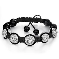 New Year Deals - shambhala bracelet white disco ballgift women Image.