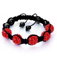 Bracelets - shambhala bracelet red disco ballgift women swarovski crystal Image.