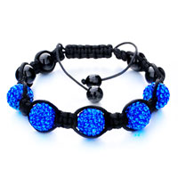 Man's Jewelry - shambhala bracelet blue disco ballgift women swarovski crystal Image.