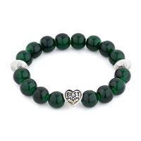 New Arrivals - green gemstone chunky crystal cz best mom charm bangle bracelet Image.