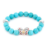 Bracelets - blue gemstone butterfly mother daughter charms bangle bracelet Image.
