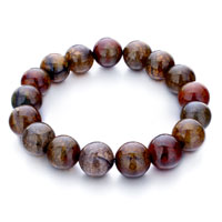 Man's Jewelry - classic brown agate beads bracelets Image.