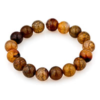 Man's Jewelry - black brown agate beads bracelets Image.