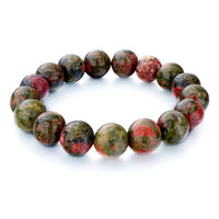 Man's Jewelry - classic green light coral peacock agate bead charm bracelets gift Image.