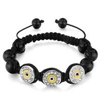 Bracelets - shamballa bracelet triple round clear rhinestone crystal drip gum Image.