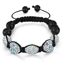 Bracelets - shamballa bracelet heart oval crystal aurore boreale rhinestone Image.