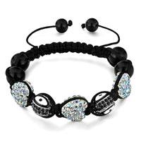 Bracelets - shamballa bracelet heart crystal aurore boreale oval eye Image.