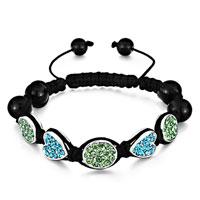 Bracelets - shamballa bracelet oval peridot crystal heart aquamarine Image.