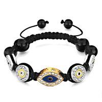 Bracelets - shamballa bracelet eye round clear rhinestone crystal drip gum Image.
