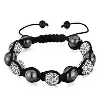 Man's Jewelry - shamballa bracelet heidan wrist chainbead clear crystal Image.