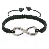 Bracelets - infinity bracelet silver infinity macrame adjustable lace bracelet Image.