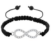 Bracelets - infinity bracelet clear white crystal lovely bowknot lace bracelet Image.