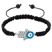Bracelets - evil eyes bracelets hamsa bracelets light blue eye on delicate palm black bracelets Image.