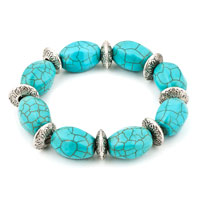 New Year Deals - bling jewelry fahsion stretch green turquoise adjustable beads charm bracelet Image.