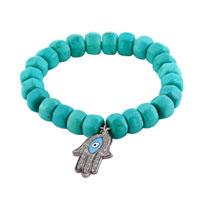 Bracelets - evil eyes bracelets hamsa bracelets blue evil eyes turquoise bracelets Image.