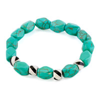 New Year Deals - bling jewelry metal beads fashion green turquoise nugget bracelet Image.